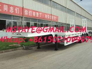 China 70 ton low bed Semi-trailer with 3-axle excavator trailer. low loader 2-hand machines supplier