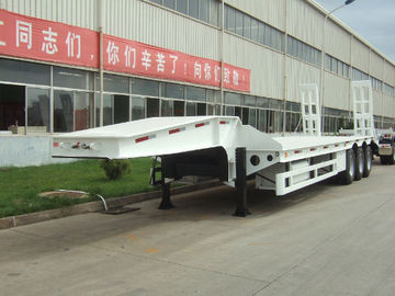 100 ton low bed Semi-trailer with 4-axles excavator trailer. low loader china
